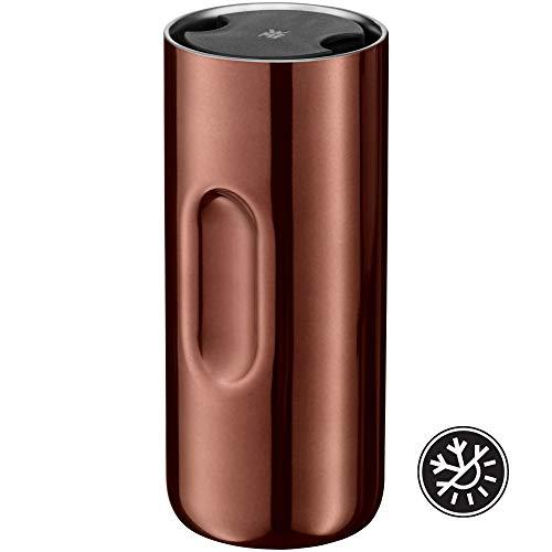WMF Motion Thermobecher 350 ml, To go Becher für Tee oder Kaffee, Thermosflasche, hält 6h warm/12h kalt, 360°-Trinköffnung, kupfer