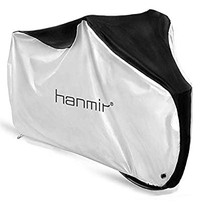Bike Cover, Waterproof Outdoor Bicycle Cover with Lock Hole for Mountain Road Bikes