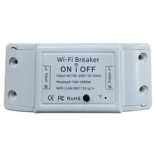 Fransande - Interruptor universal para bricolaje, wifi, inalámbrico, control remoto con Alexa Home