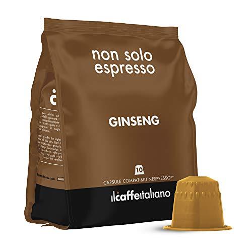 FRHOME - 50 Capsule Ginseng - Compatibili con Macchine da caffè Nespresso Il Caffè Italiano