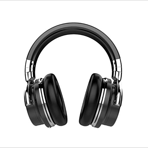 DYY Active Noise Cancelling Bluetooth Headset Handy/PC Stereo/Subwoofer Head-Mounted Wireless Headset (Farbe : SCHWARZ)