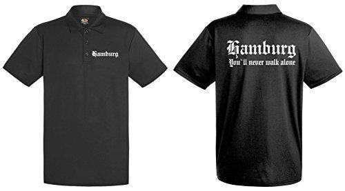 World-of-Shirt Herren Polo Shirt Hamburg Ultras|L