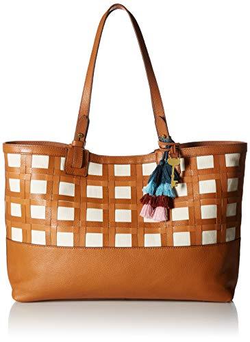 Fossil Women's Rachel Leather Tote Handbag, Tan