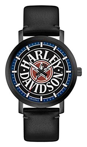 Harley-Davidson 78A120 - Orologio da uomo in pelle e acciaio inossidabile