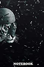 """Notebook: Tiger In Snow Wallpaper Winter , Journal for Writing, College Ruled Size 6"""" x 9"""", 110 Pages"""