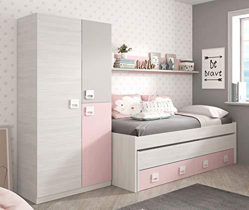 Miroytengo Pack Dormitorio Infantil Juvenil Cama Nido