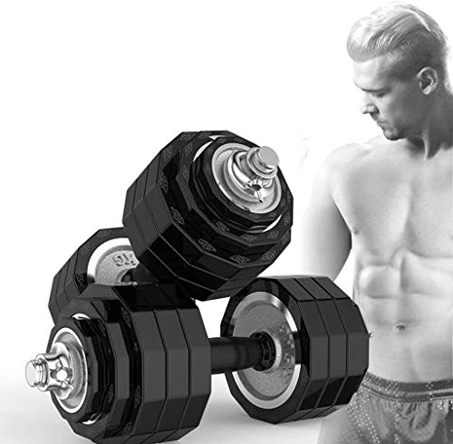 LAZ Adjustable Dumbbell hand weight Barbell Perfect weight lifting set, fitness exercise equipment, home fitness equipment for men and women dumbbells Dumbbell (Size : 20kg)