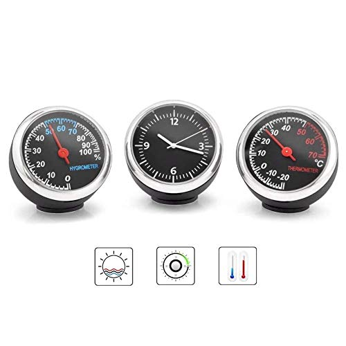 Wupettier Auto-Thermometer, Hygrometer Durable Hohe Transparenz-Quarz-Taktgeber-Dekoration Für Armaturenbrett Ornament Auto Tabelle Boot