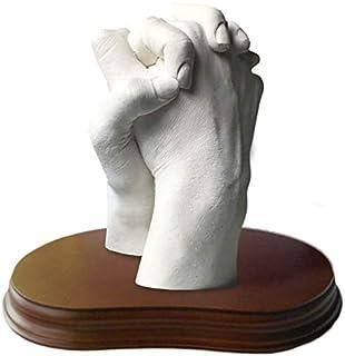 MOLDEARTEBABY UN RECUERDO INOLVIDABLE Haz una Escultura de Manos con tu Pareja, Manos Entrelazadas, Escultura Realista, Pe...