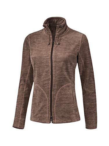 Joy Sportswear Pennie Langarm-Freizeitjacke für Damen aus kuscheligem, weichem Micro-Fleece, Zipjacke mit praktischem Zwei-Wege-Reißverschluss 46, Nougat Melange