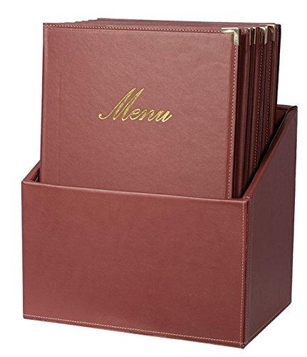 Securit Box Menu - 20 menu in formato A4 - Rosso Classic - con 1 inserto doppio - Angoli protettivi in Metallo
