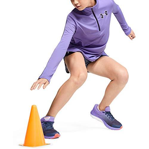 Under Armour - Fitness-Longsleeves für Mädchen in Violett, Größe L