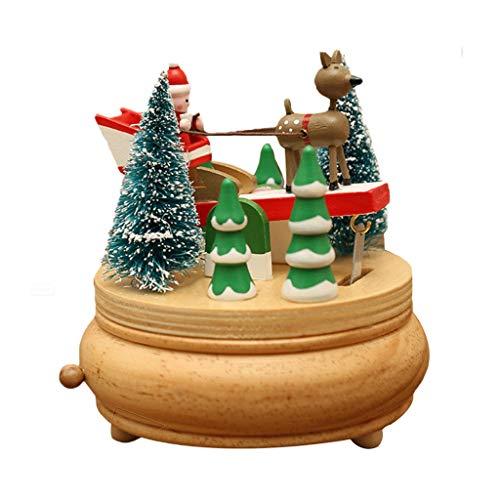 SHYPT Caja de música de Moda Creativa Decoración de Mesa Decoración Caja de música de Navidad giratoria