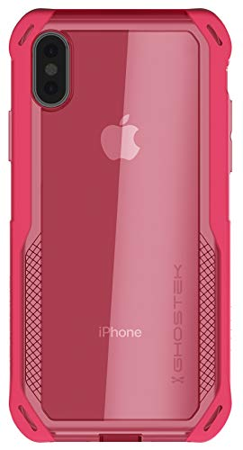 Ghostek Cloak Clear Grip iPhone Xs Case with Super Slim Fit Shock Absorbing Bumper Ultra Tough Cover with Heavy Duty Protection and Wireless Charging Compatible for 2018 iPhone Xs (5.8 Inch) - (Pink)