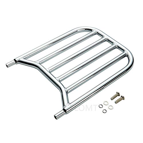 Backrest Sissy Bar Luggage Rack For Indian Chieftain Chief Springfield Roadmaster Dark Horse Classic Vintage 2014-2019 (Chrome)