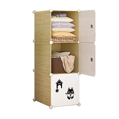 JIAWYJ XIAOJUAN Casual Almacenamiento Locker Wardrobe Organizer Plastic Withdoor Divide-Grid Shelves Combinación Ropa de pie Dormitorio de pie Casa (Tamaño: 3 9X37X111CM) (Size : 39X37X111CM)