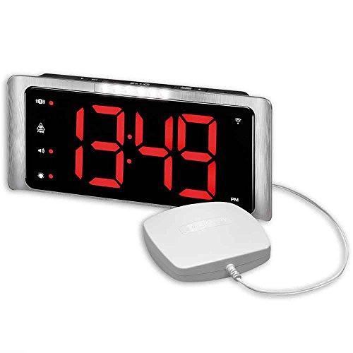 Amplicomms Big Display Radio Controlled Digital Extra Loud Alarm Klok met Vibration Pad (Geschikt voor btw-verlichting in het Verenigd Koninkrijk)