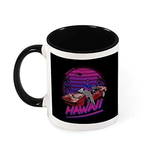 N\A Magnum PI Willkommen auf Hawaii Keramik-Kaffeetasse-Tee-Becher, Geschenk für Frauen, Mädchen, Frau, Mutter, Großmutter, 11 Unzen