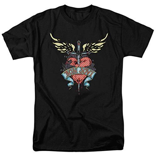 maichengxuan Bon Jovi - Camiseta con diseño de corazón y daga