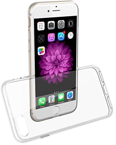 COVERbasics per Apple iPhone 7 iPhone 8 4.7 (SOFTCASE) Cover Custodia con Bordo Anteriore Salvaschermo Trasparente Bumper Morbida Crystal Clear HD TPU Silicone Gel Gomma Robusta Solida Antiurto