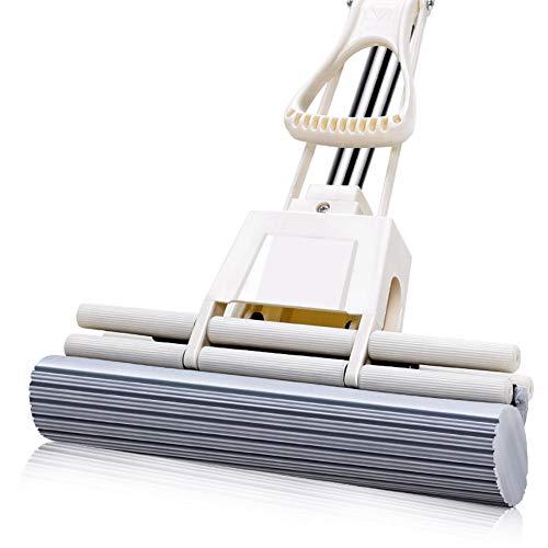 WMHA Succión doble rodillo apretón esponja esponja esponja fregona, piso depurador, esponja plegable, herramienta de limpieza del hogar