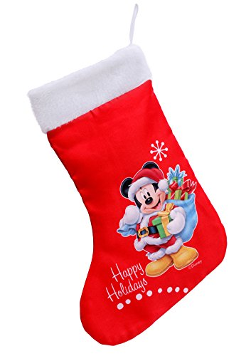 Ciao- Calza Natale Disney Mickey, Rosso, M, 90911