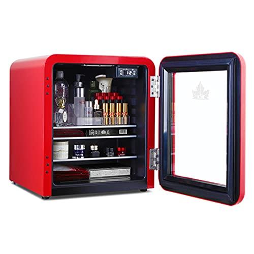 Mini Refrigerador para Dormitorio Refrigerador para Automóvil Refrigerador Pequeño Refrigerado De Una Sola Puerta Almacenamiento De Partición En Capas Almacenamiento Completo De 42 L