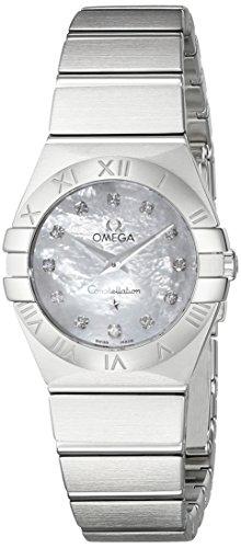 Omega Women's 12310246055001 Constellation Analog Display Swiss Quartz Silver Watch