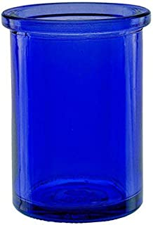Bluecorn Beeswax 50% Recycled Glass Candle Holder (2¼-Inch Interior Diameter x 3¾-Inch  Tall) - Cobalt