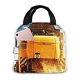 QCFW Lunch Tasche Kühltasche Picknick Schule Lunch Paket Kühlbox Isoliertasche Mittagessen Tasche für Herren Damen Kinder Im Freien Mähdrescher Nutzpflanze