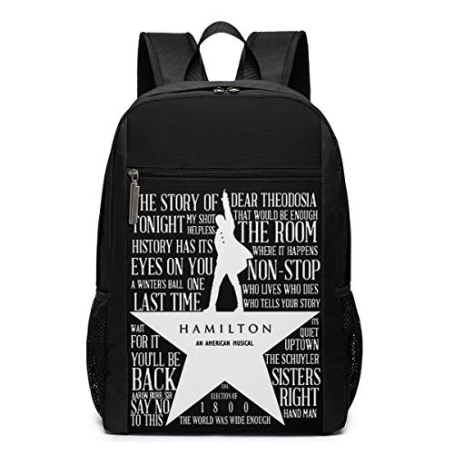 Lawenp The Lewis Hamilton Band Backpack 17 Inch Laptop Bags College School Backpack Casual Daypack for Travel