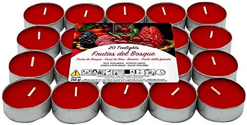 Besch Velas de té aromáticas (Frutos Rojos, 20 Velas)