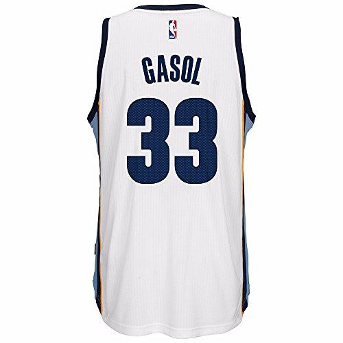 adidas Marc Gasol Memphis Grizzlies NBA Swingman Jersey - White (XX-Large)