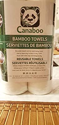 Bamboo Towels Reusable Paper Towels Eco Friendly Gift 2 Rolls 50 Sheets 12 Months Supply Zero Waste Unpaper Towel Machine Washable Kitchen Cleaning Cloth
