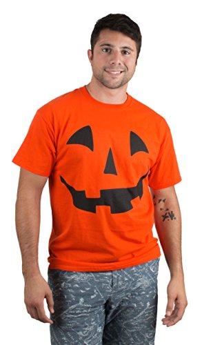 Giant Jack O' Lantern Face   Halloween Pumpkin Fun Unisex T-Shirt for Men Women,M Orange