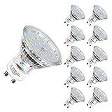 Bombilla LED GU10, 5 W equivalente a 60 W Halógena, blanco neutro 4500K, 600LM, 120 ° ángulo de haz, Ultra Brillante LED Bombillas, Paquete de 10 Unidades