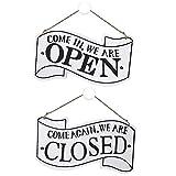 Open Closed Sign, Letrero de Dos Lados Abierto y Cerrado de Madera con Cuerda para Colgar un Letrero...