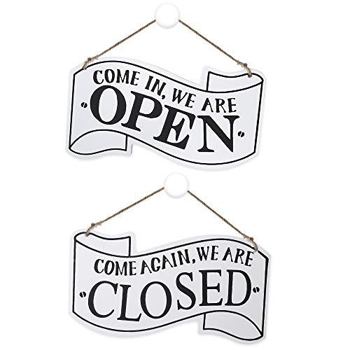 Open Closed Schild, Holz Hängen Shop Zeichen Vintage Restaurant Dekoration Doppelseitiges Offen und Geschlossen