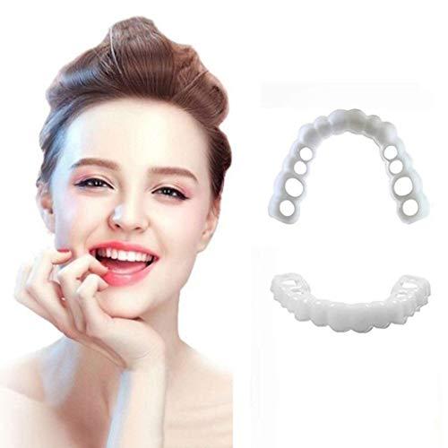 Obere Und Untere Zähne Simulationsträger/Whitening-Ärmel Zweite Generation Silikonsimulation Dental-Zahnspangen 2 Paare