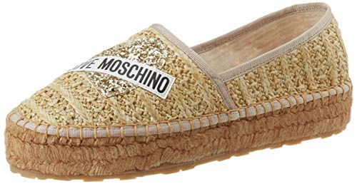 Love Moschino JA1041, Espadrillas Donna, Rosa (Naturale 107), 38 EU