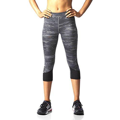 adidas Women's Techfit Capris, Black/Print/Matte Silver, X-Small