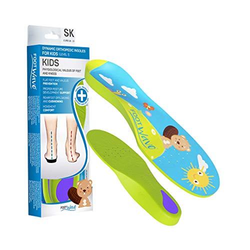 FootWave Kids Orthopädische Einlagen für Kinder | aus atmungsaktiven Mikrofasern | Entlastung der Gelenke - amortisierende Wirkung