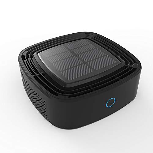 XXCLZ Auto-luchtreiniger op zonne-energie, reiniger voor het gebruik van de auto, ionisator, luchtverfrisser, filter, schadelijke gassen afgebroken in de auto