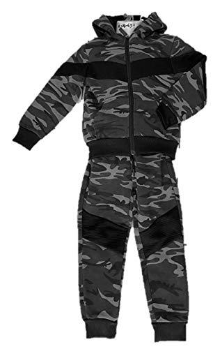 VanessasShop Jungen Camouflage Jogginganzug Hose + Jacke in den Größen 98-164 (158-164)