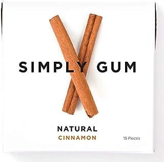 Simply Gum   Chicle de Canela   Natural, Vegetariano, y no GMO   Paquete de 6, 90 piezas totales