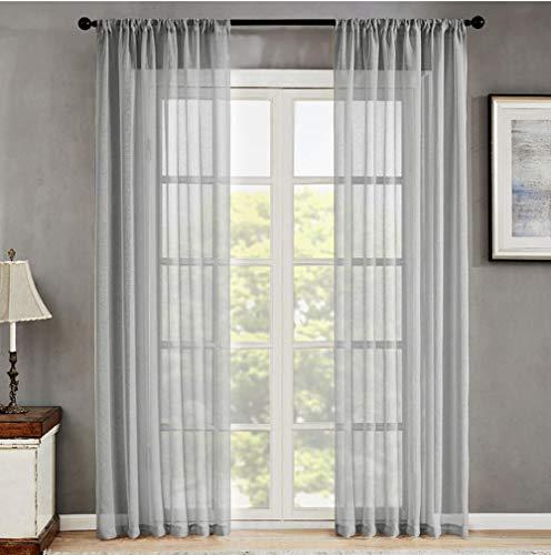 ANBAI Reine Bildschirm Fenster Gaze Bildschirm für Wohnzimmer Schlafzimmer Moderne solide Bildschirm Bildschirm Küche Trennwand Verarbeitung-Ringe Oben_B400xL260cm 1pc (158x102inch)