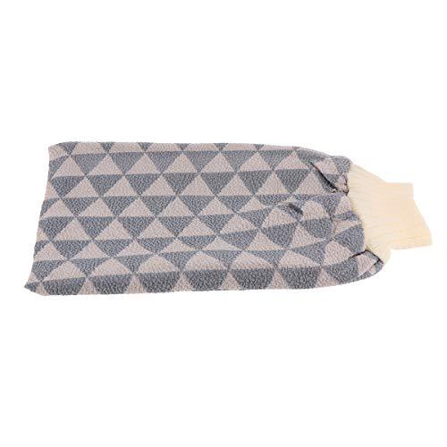 SUPVOX Gants exfoliants pour la douche épaississants gant de lavage double face gant de corps peau grattante (gris)