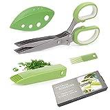 Feliciay Gourmet Scissors Set Kräuterschere Mehrzweckschneideschere mit 5...