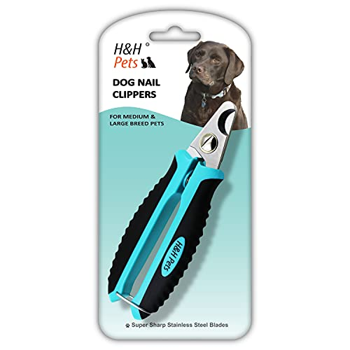 H&H Pets Nail Clippers Series - for Cats and Dogs - Razor Sharp Blades Sturdy Non Slip Handles - Dog Accessories Professional at...
