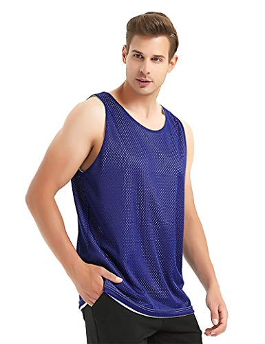 TopTie Camiseta de Tirantes para Hombre, Camisetas de Baloncesto, Camiseta de Malla Reversible, Jersey de Lacrosse